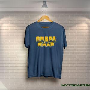 Ghapa ghap navy blue t shirt