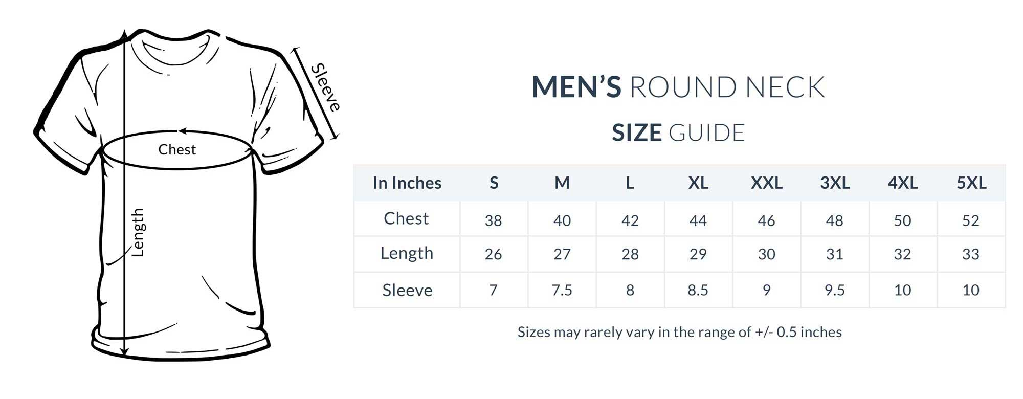 Mytscart Size Guide