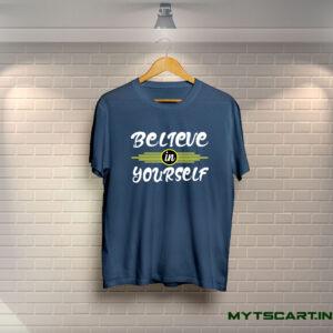 Believe In Yourself navy blue T shirt
