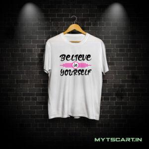 Believe in Yourself black t shirt